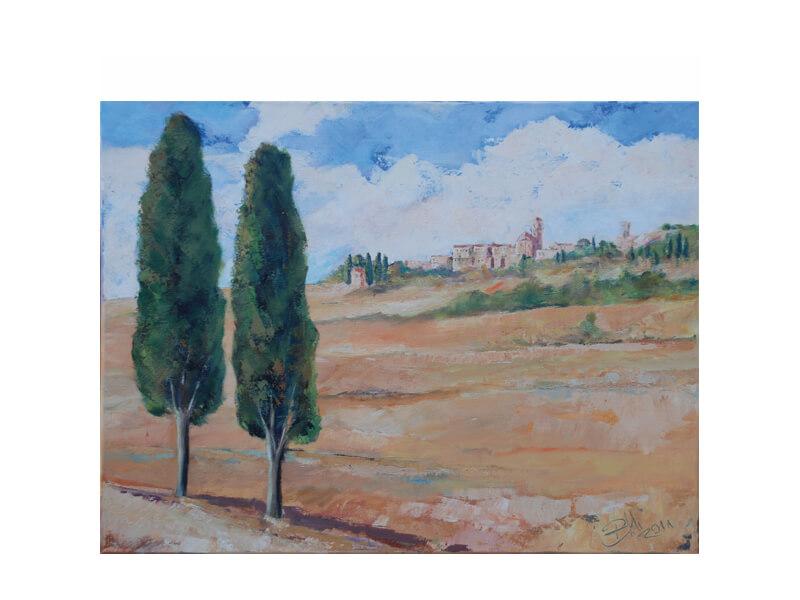 Volterra Acryl und Leinwand 50 x 60 cm