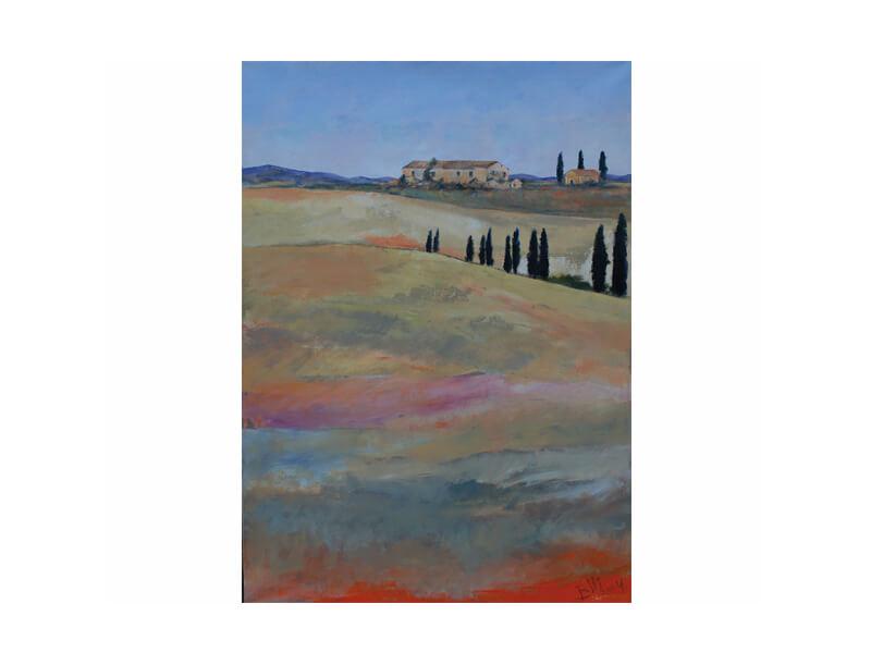 Toscana 1 Acryl auf Leinwand 80 x 120 cm Landschaft Toscana