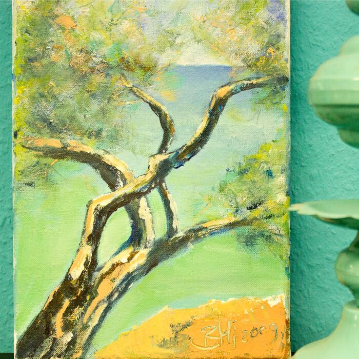Bild Baum in Türkistönen