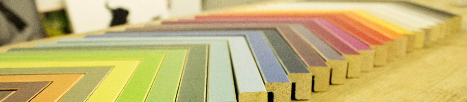 Bilderrahmen in verschiedenen Farben